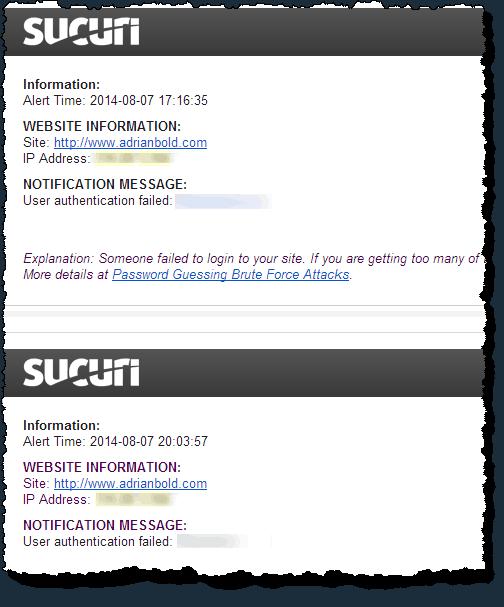 Sucuri alert notifications